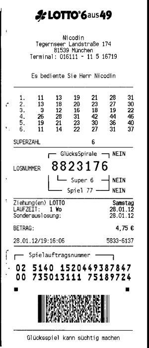 Rezultate loto germania 28.01.2012